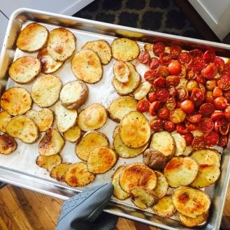 Roasted Potatoes & Tomatoes